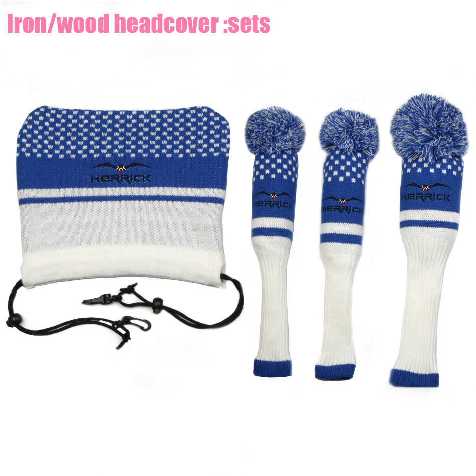 Image 5 - New Golf Clubs  Fairway Wood  headcovers  knitting wool covers 1#3#5# covers irons headcover Golf Accessories Free Shipping-in Golf Clubs from Sports & Entertainment