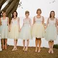 White Tulle Skirt Women 2016 New Fashion Tutu A-Line Weddding Party Skirt Knee-length Saia Femininas Custom Made