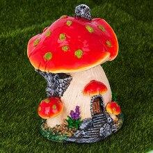 Ankoow casa de cogumelo vermelho, decoração de casa de paisagem, jardim das fadas, artesanato, ornamento em miniatura, acessórios de jardim de fadas
