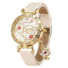 2018 New Women Watch Bracelets Vintage Retro Bracelet Watches Women Flower Rhinestone Ladies PU Leather Quartz Dress Wrist Watch