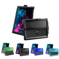 stand microsoft surface Microsoft Surface Pro 3 4 5 6 Case Tablet Silicone Flat Shell Anti-Drop Anti-Slip Shockproof Sleeve+Pen Groove Flip Stand Cover (1)