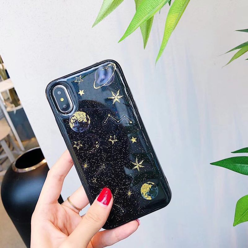 Us 527 12 Offfor Samsung Galaxy J3 J5 J7 A3 A5 A7 A8 2017 Pro Luxury Night Sky Planet Moon Saturn Star Glitter Epoxy Soft Phone Case Cover In