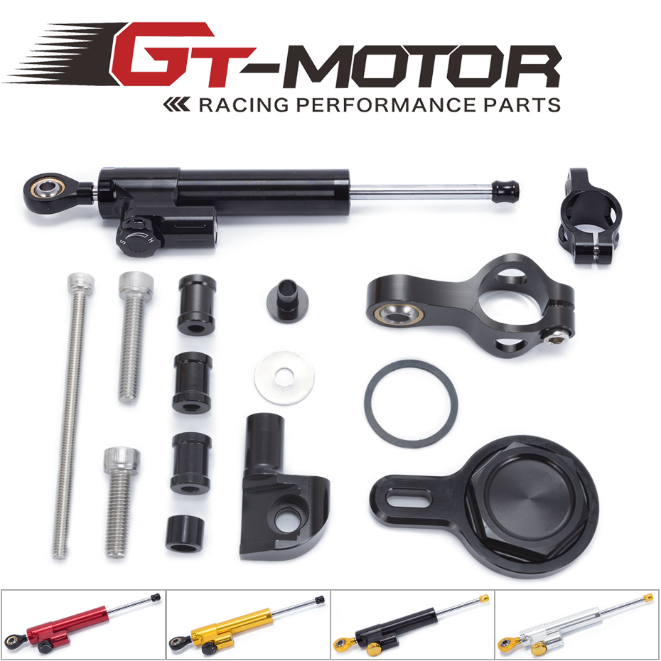 GT Motor - FREE SHIPPING For YAMAHA R1 1998-2005 Motorcycle Aluminium Steering Stabilizer Damper Mounting Bracket Kit fxcnc aluminum motorcycle steering stabilizer damper mounting bracket support kit for yamaha fz1 fazer 2006 2015 2007 2008 09
