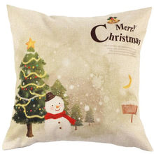 2018 New Design Bed Pillow Case Custom pillowcase Christmas Snowman Bed Home Decor Pillow Case(China)