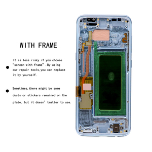 Image 3 - Super AMOLED For Samsung Galaxy S8 S8 plus G955f G950F G950U G950FD Burn in Shadow Lcd Display Touch Screen Digitizer With Frame