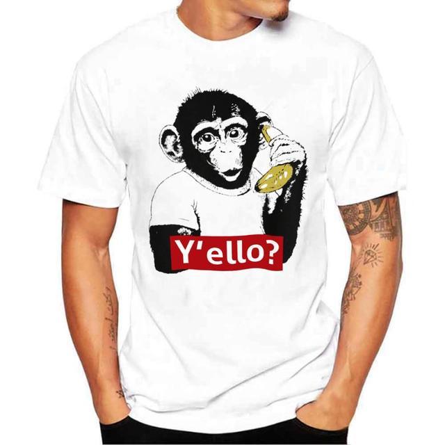 Aliexpress.com : Buy MUQGEW t shirt man print Monkeys and bananas ...