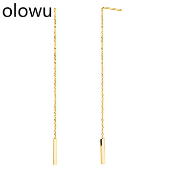 olowu Classic Long Drop Earrings Stainless Steel Gold Silver Rose Gold Tone Dangle Earring Geometric Bar.jpg 350x350 - olowu Classic Long Drop Earrings Stainless Steel Gold Silver Rose Gold Tone Dangle Earring Geometric Bar Earing For Women Girl