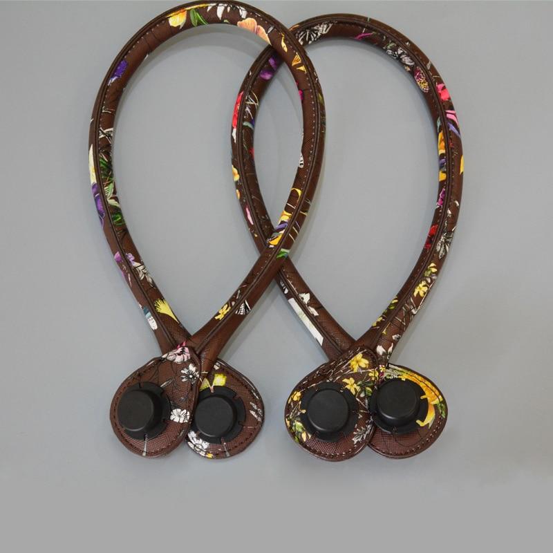 YESIKIMI Obag Handles PU Leather Solid Handle Bag Accessories Flower Straps 65cm Belt DIY Purse Parts