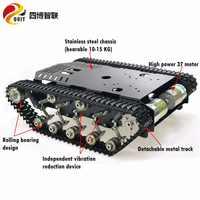 SZDOIT TS900 Große Last Metall Tank Chassis Metall Track Schock-absorbieren Crawler Chassis Smart Roboter + High Power Motor montiert