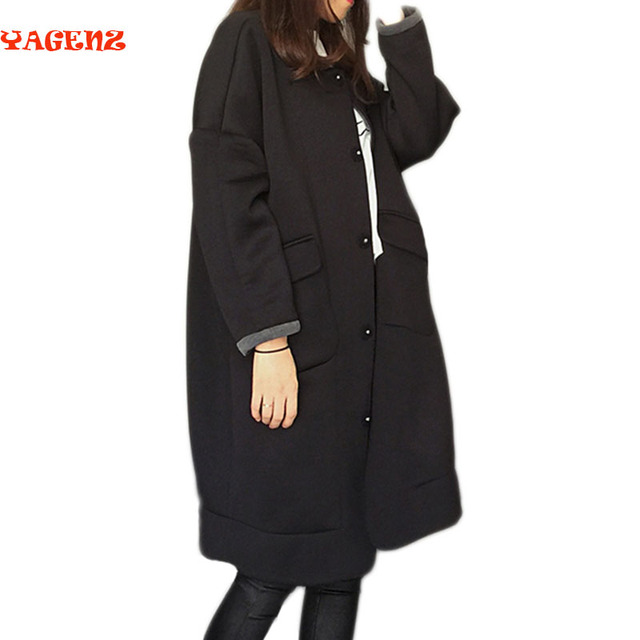 new Spring autumn women's windbreaker coat large size loose Medium length section two sides wearing windbreaker coat female