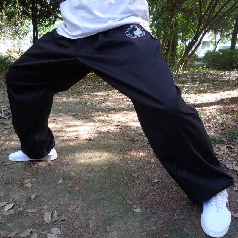 Новое Прибытие Черный Тай-чи брюки мужчины женщины тай-чи одежда 100% хлопок брюки, Китайские боевые искусства ушу кунг-фу брюки
