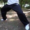 Nova Chegada calças de Tai chi Preto das mulheres dos homens de tai chi roupas 100% de algodão, calças de kung fu Chinês de artes marciais wu shu calças