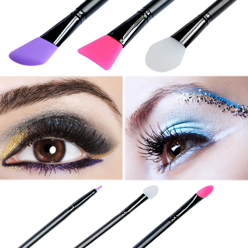 6pcs Professional Wooden Handle Facial Face Mud Mask Mixing Eyeliner Eyeshadow Brush Cosmetic Silica gel Makeup Tool Kit AU1 hengfang 52135 princess style water resistant eyeliner gel w brush black