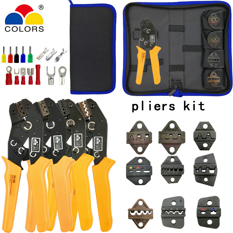SN-2549 SN-48B Crimping Pliers 4 Jaws Kit For TAB 2.8 4.8/C3 XH2.54 3.96 2510/tube/non Insulation Terminals Electric Clamp Tools