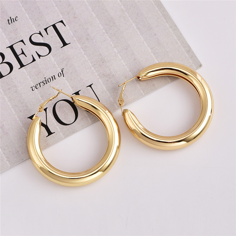 IF-YOU-Fashion-Gold-Color-Oversize-Hoop-Earrings-For-Women-Bohemia-Wide-Big-Round-Statement-Earring (2)