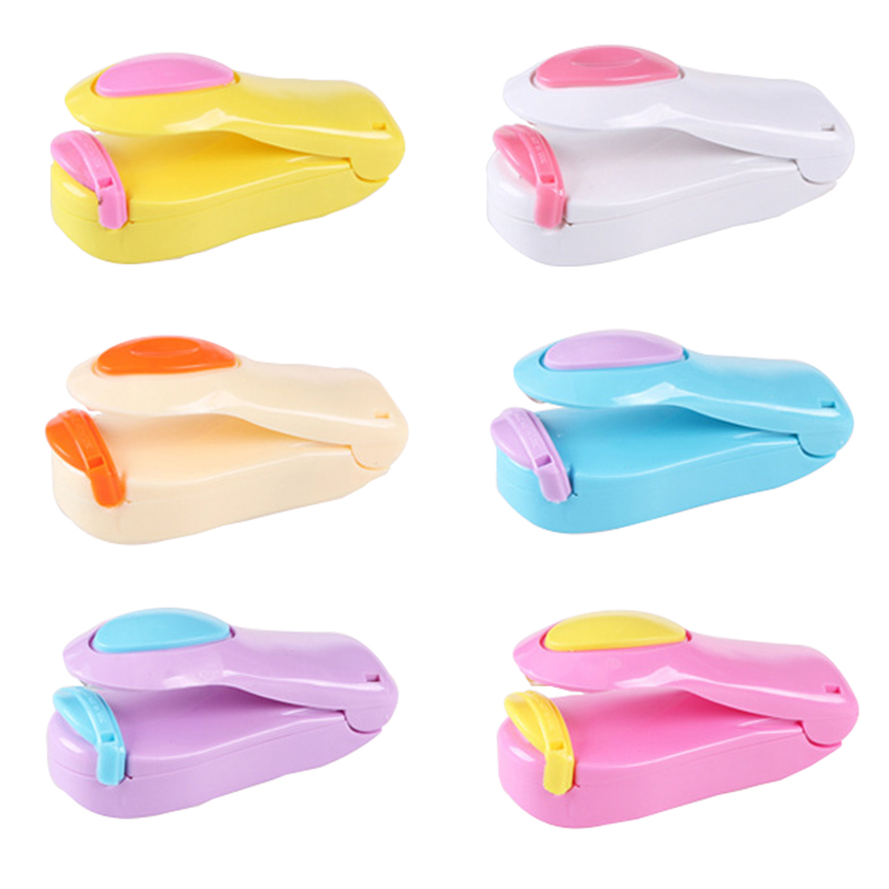 Portable Clips Handheld Mini Electric Heat Sealing Machine Impulse Sealer Seal Packing Plastic Bag Work Clips Office Supply