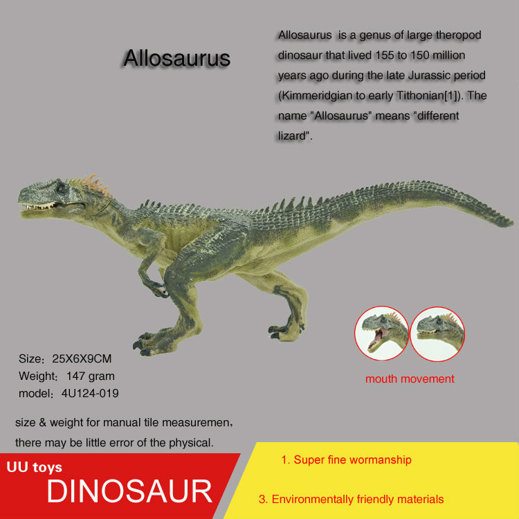 Hot toys figure Allosaurus high Simulation model Jurassic dinosaur toys action figure Gift toys for children jurassic velociraptor dinosaur pvc action figure model decoration toy movie jurassic hot dinosaur display collection juguetes