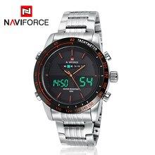 NAVIFORCE 9024 Men Watch Luxury Steel Quartz Digital LED Watch Army Military Sport 3ATM Waterproof Wrist watch relogio masculino