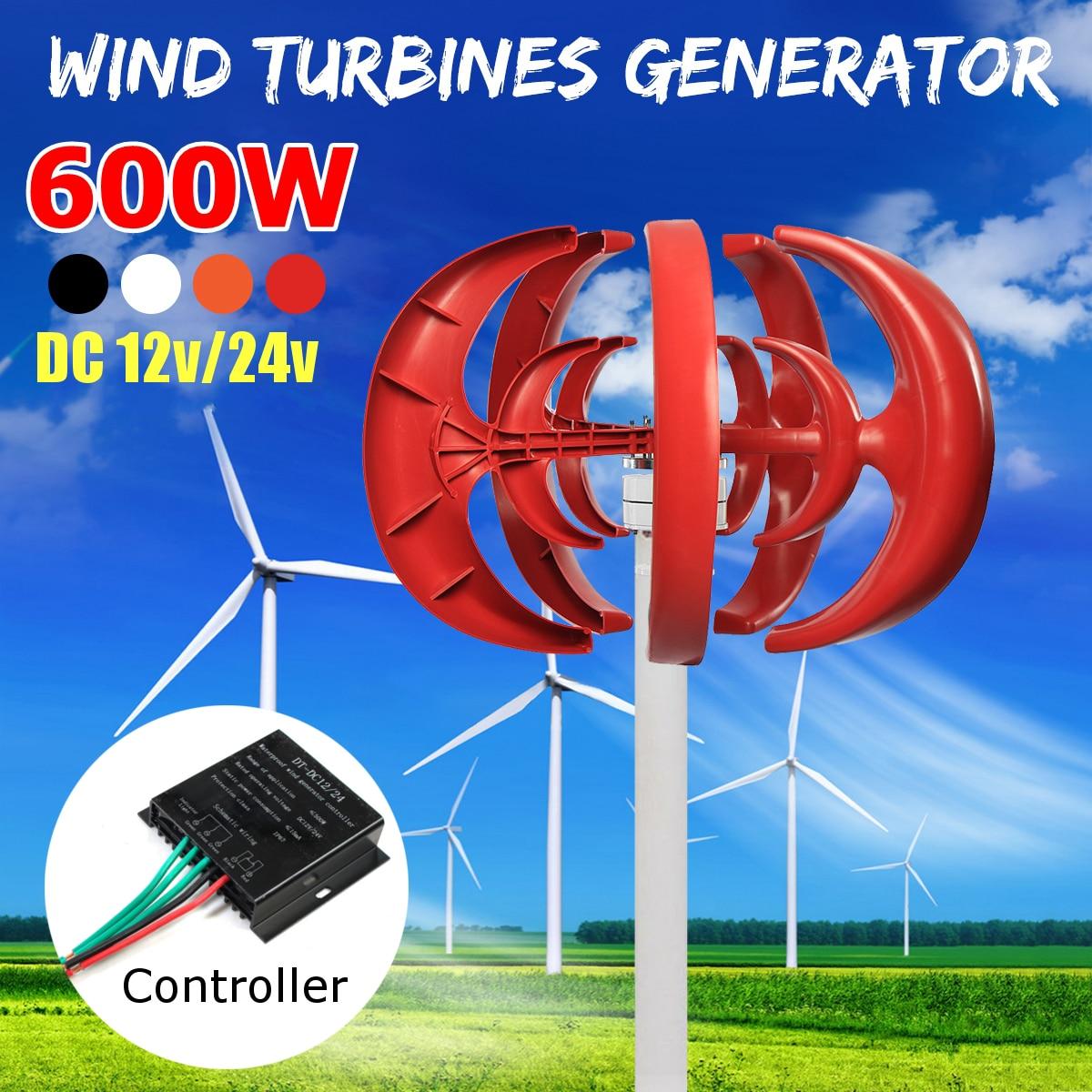 Vent T urbine 500W DC 12/24V combiner avec 600W contrôleur de générateur de vent anglais maison pour une utilisation de réverbère hybride à la maison