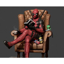 Diamond Embroidery Full square Deadpool reading chair coffee picture 5D Diy diamond painting mosaic  home decor H11