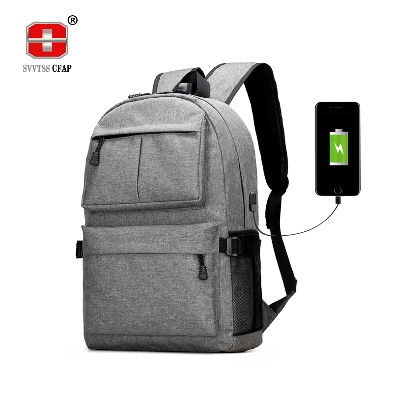 Usb laptop Backpack women Canvas Large Capacity schoolbags student Book Bags Boys college Men School Bags for teenagers Girls augur oxford 17inch laptop men backpack large capacity student school bag for college patchwork business trip men rucksack