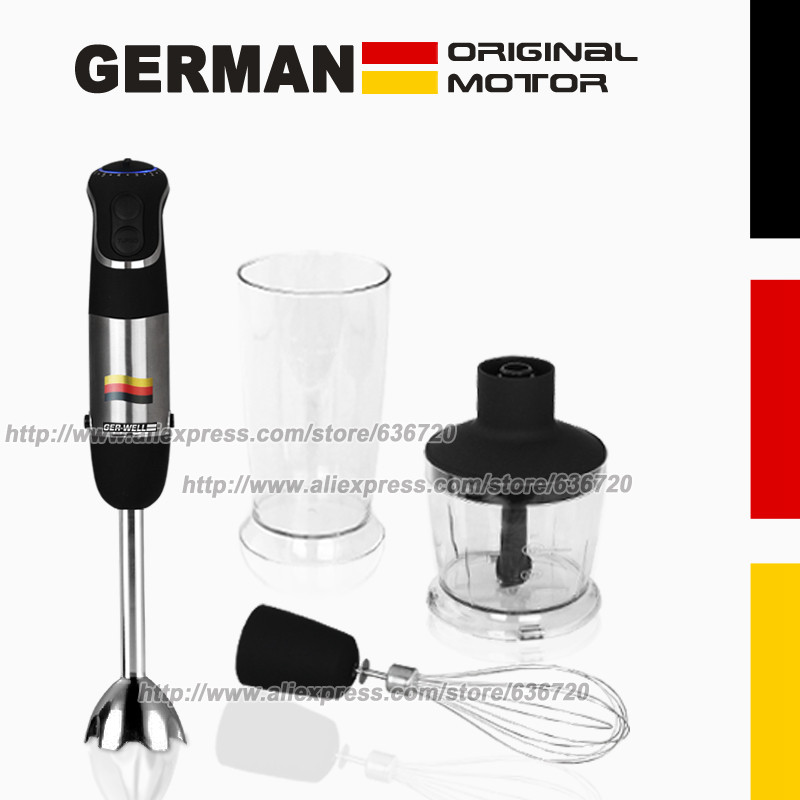 850W GERMAN Motor Technology electric Hand blender MQ735, Chopping ,Whip, beat, stir, mixer, Smart Stick food processors-in Blenders from Home Appliances