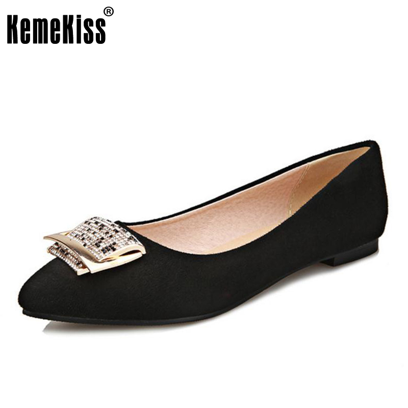 KemeKiss big size 31-47 women flat shoes pointed toe lady sweet quality super soft female cozy flats footwear shoes P22987 new 2017 spring summer women shoes pointed toe high quality brand fashion womens flats ladies plus size 41 sweet flock t179