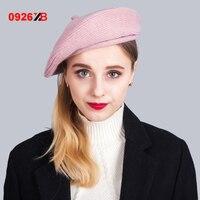 0926XB 2017 Top Quality Ladies Beret Cap Autumn Winter Fashion Keep Warm Solid Colors Women Beret