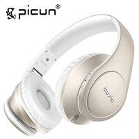 Picun P7 אוזניות הפחתת רעש אוזניות עם מיקרופון ושליטה על עוצמת קול אלחוטי כרטיס TF תמיכה לילדים מבוגרים