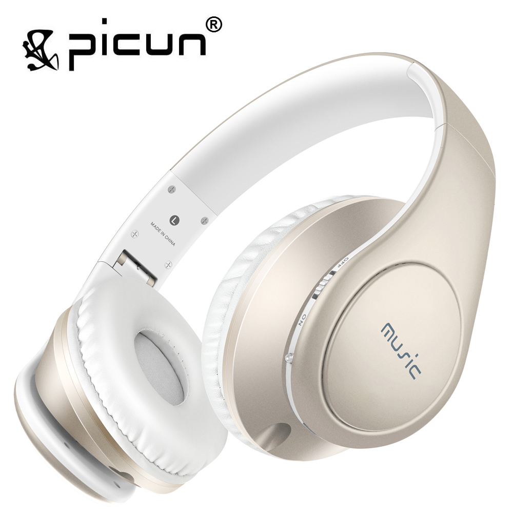 Picun P7 Headphones Wireless Noise Reducing Headsets With Mic and Volume Control Support TF Card for Kids Adults earfun brand big headphones with mic