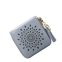 Genuine Leather Wallet Luxury Brand Women Small Wallets Female Solid Hasp Id Card Holder Pocket Cards Coin Purse Gifts