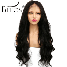 BEEOS 150 Density Human Hair Lace Front Wigs Black Women Body Wave Remy Hair Brazilian Lace Wig Pre Plucked Bleached Knots
