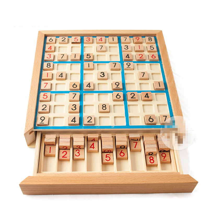 Digital Sudoku Puzzles Wood Number Beech with Darwers Sudoku Chess Board Game Puzzles & Magic Cubes Learning & Education GH145 puzzles