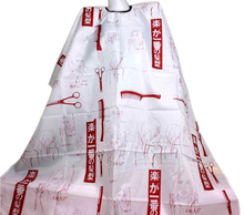 Red Personality Hairdressing Hair Cutting Salon Hairstylist Nylon Gown Cape Cloth For Styling Tools Hair Cutting Wrap   H7JP