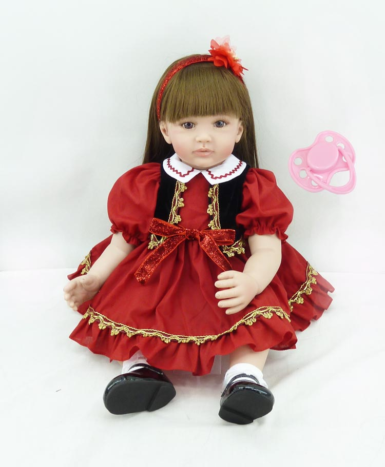 60cm Silicone Vinyl Reborn Baby Doll Toys Kids Child Birthday Christmas New Year Gifts Lifelike Toddler Dolls Girl Brinquedos silicone vinyl reborn baby doll lifelike newborn toddler simulated doll princess brinquedos new year christmas gifts for kids