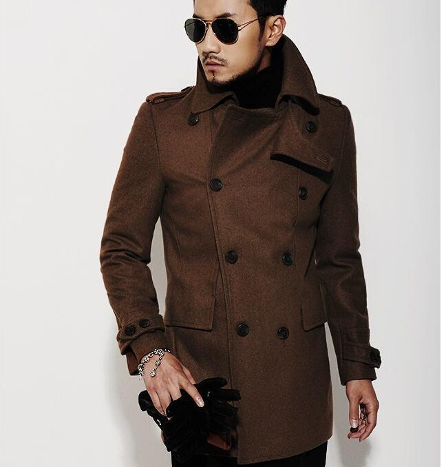 Compare Prices on Mens Brown Pea Coat- Online Shopping/Buy Low ...