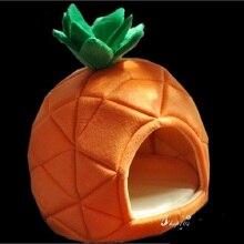 Pet Cat House Foldable Soft Winter Dog Bed Pineapple Shape Cute Kennel Nest Warm