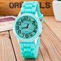 Новый 2016 Модный бренд Женева Детский Мультфильм Повседневная Кварцевые Часы Детские Спортивные Часы Relogio Платье Часы Розовый Наручные Часы