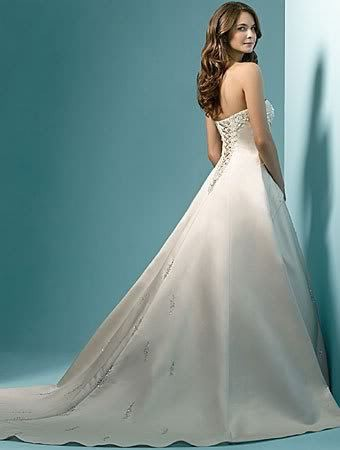 Vestidos-de-noiva-Cheap-Price-2015-Free-Shipping-Pearl-A-line-Strapless-Train-White-Ivory-Wedding