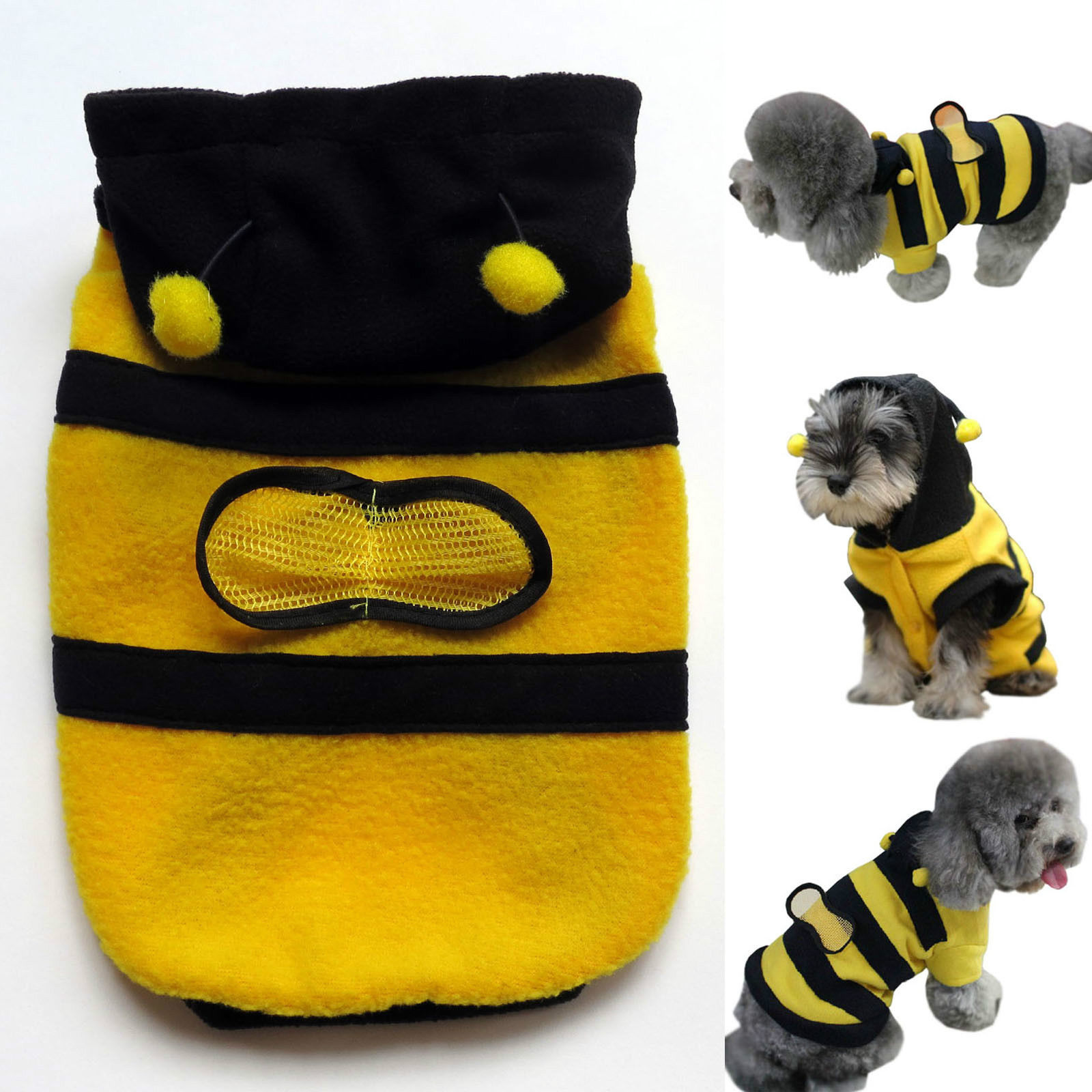 2f321cedc3b8 New Lovely Dogs Pets Clothing And Clothes Cute Fleece Bumble Bee ...