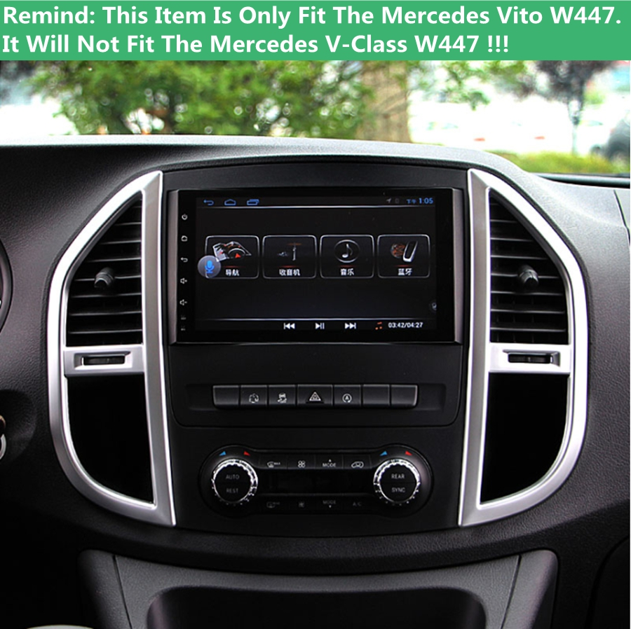 US $23 94 40% OFF|Accessories For Mercedes Benz Vito W447 2014 2015 2016  2017 2PC ABS Middle Control Air Conditioning Panel Molding Cover Kit  Trim-in