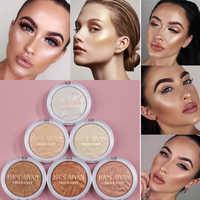6 farbe Highlighter Machen Up Palette Iluminador Gesicht Hohe Leichter Bronzer Kontur Pulver Langlebige Schimmer Gesicht Glow Highlight