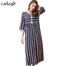 Fdfklak Spring Summer Nightgown Cotton Sleeping Dress Women Night Dress Sleepwear Long Nightgowns For Women Plus
