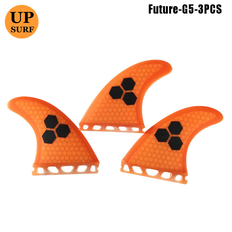 Future G5 Surfing Fins Fiberglass Honeycomb Pure Color Fins Customized Fins Surfboard Future Fins