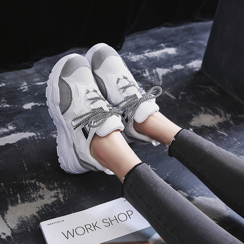 2019 Spring and Summer New Sneakers Female Korean Version of Harajuku Wild Casual Shoes Women's Breathable Sneakers(China)