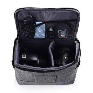 Image 3 - Wennew קפה אפור תמונה DSLR כיסוי עמיד למים מצלמה תיק SLR מקרה עבור ניקון Z7 Z6 D3500 D5600 D5500 D5300 D5200 d5100 D5000