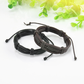 Wrap Multilayer PU Leather Bracelet Men Wristband Bracelets & Bangles For Women Men Fashion Jewelry Pulseras