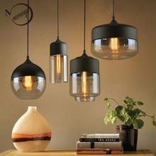 Nordic loft moderno pingente de vidro pendurado lâmpada luminárias e27 e26 led luzes pingente para cozinha restaurante barra sala estar quarto