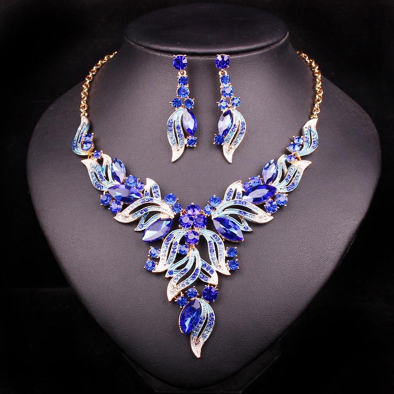 Aliexpress Com Buy New Fashion Necklace Earrings Bridal: Aliexpress.com : Buy New Fashion Indian Rhinestone Bridal