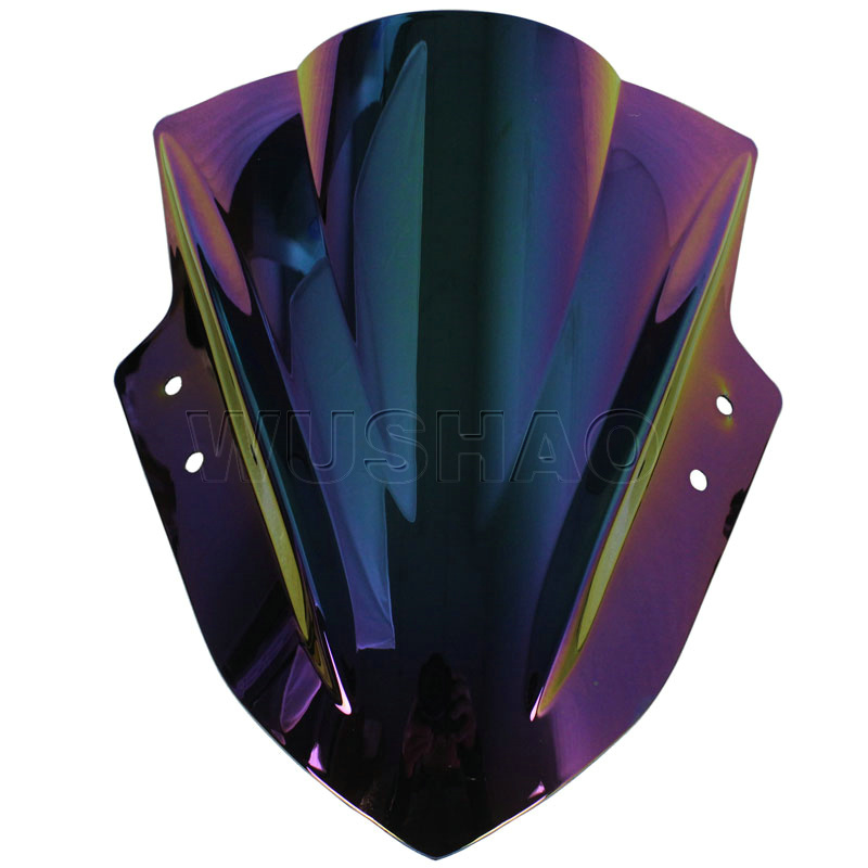 ユニバーサルオートバイストリートバイク風防ウインドスクリーン用スズキグラディウス650 sfv650 gsr750 z GSX S 1000ブラッククリアイリジウム  グループ上の 自動車 &バイク からの フロントガラス & ウィンドディフレクター の中 3